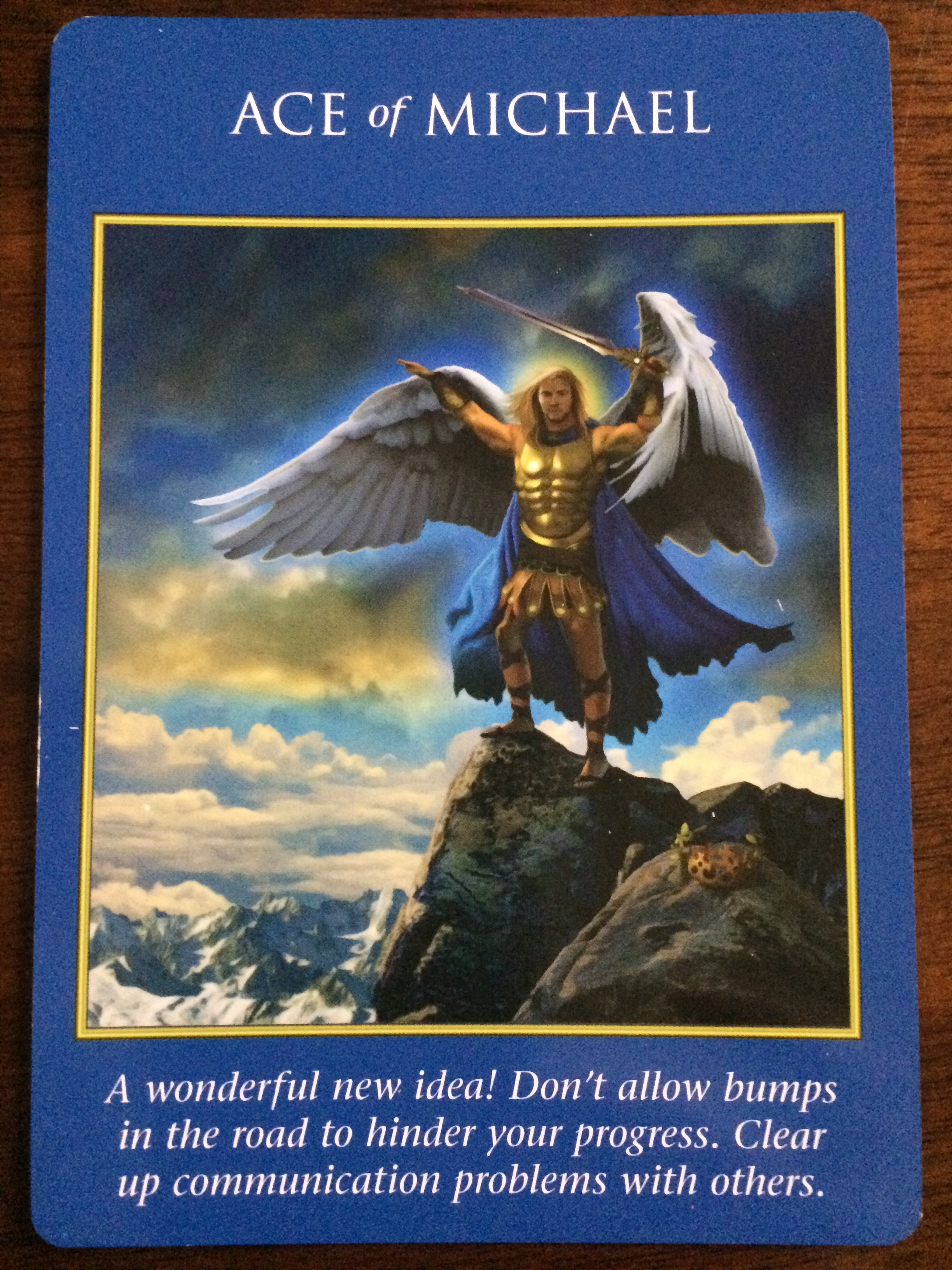 Archangel Power Tarot Cards Ace Of Michael