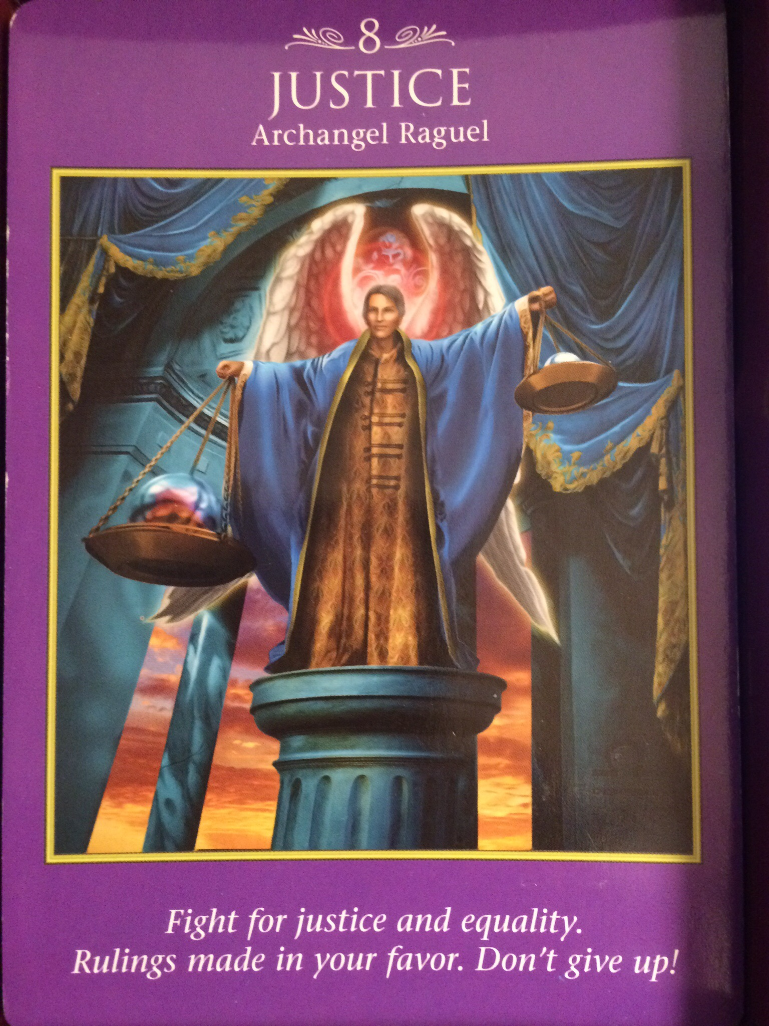 Archangel Power Tarot Card Justice