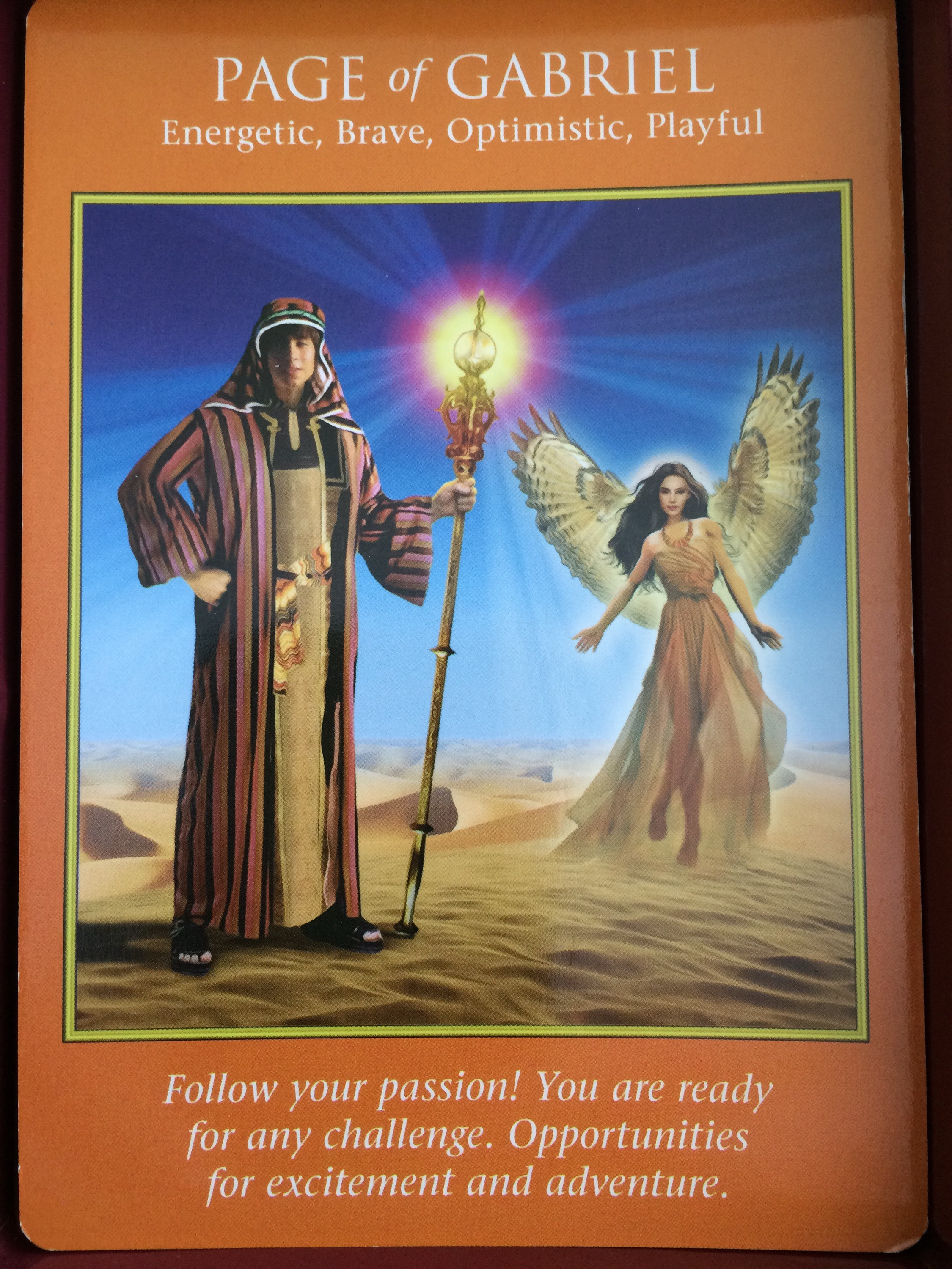 Archangel Power Tarot Cards Page Of Gabriel