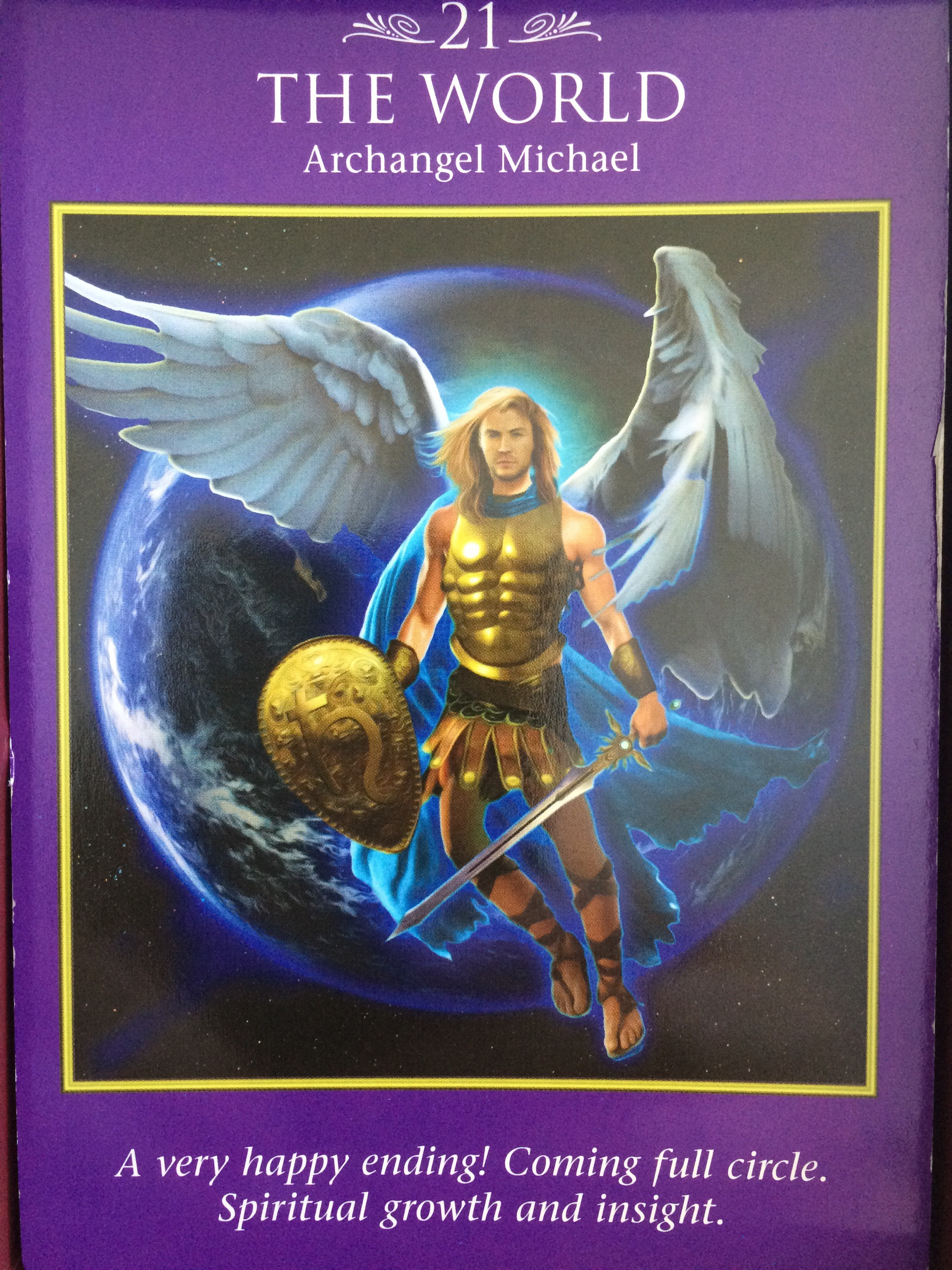 Archangel Power Tarot Cards The World